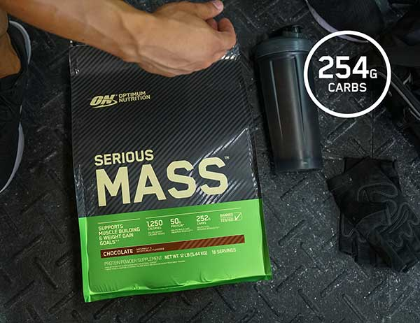 optimum nutrition serious mass gainer powder