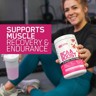 NEW refreshing BCAA + electrolyte drink to support muscle recovery!